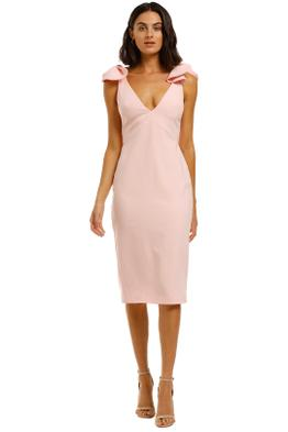 By-Johnny-V-Plunge-Bow-Shoulder-Midi-Blush-Front