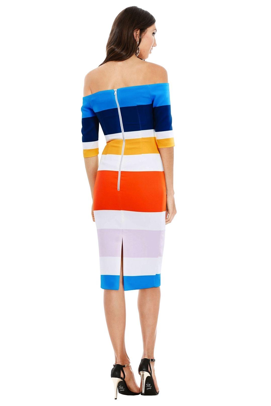 By Johnny - Bermuda Stripe Cut Off Dress - Multicolour - Back