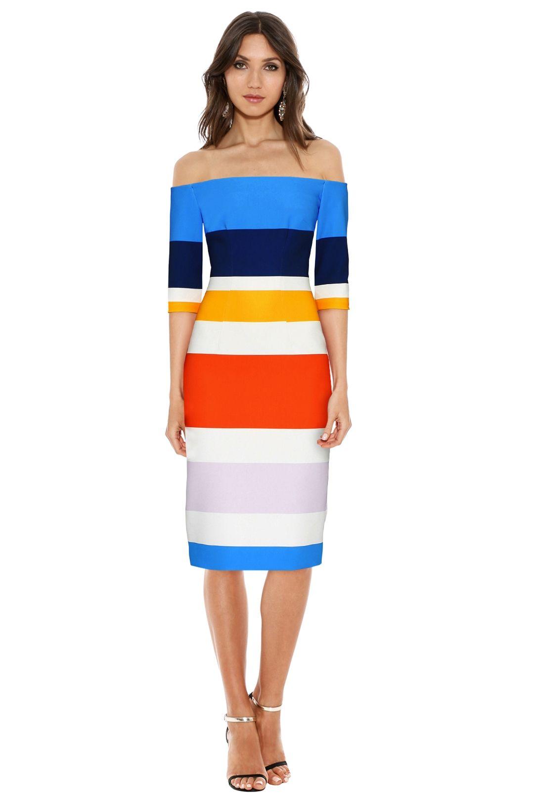 By Johnny - Bermuda Stripe Cut Off Dress - Multicolour - Front
