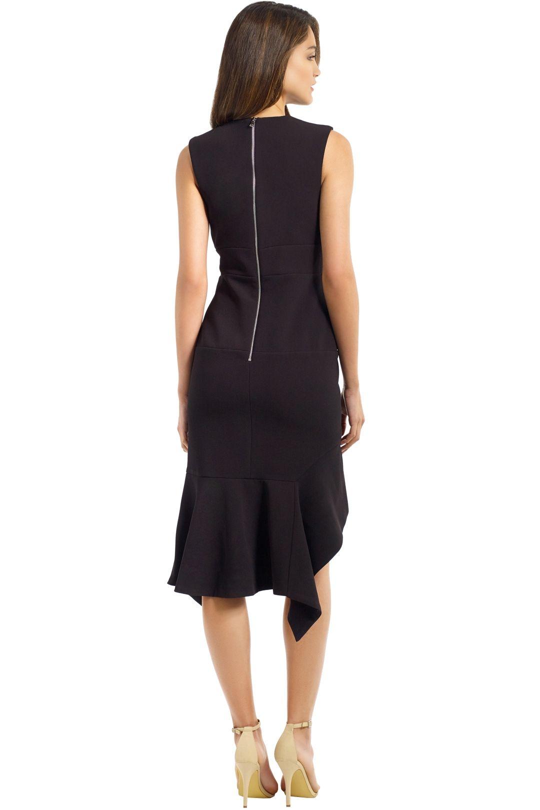 By Johnny - Midnight Panel Shift Dress - Black - Back
