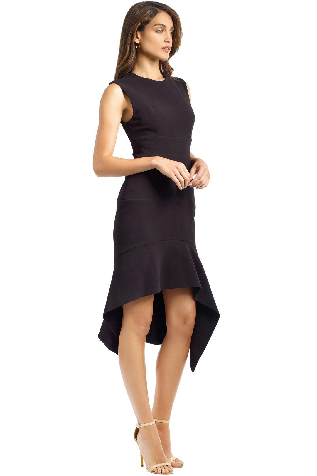 By Johnny - Midnight Panel Shift Dress - Black - Side