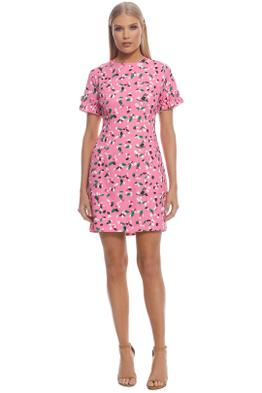 By Johnny - Painted Petal Ruffle Tee Dress - Pink - Front
