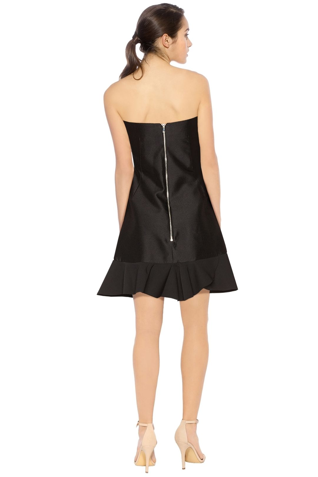 By Johnny - Tess Angel Frill Mini Dress - Black - Back