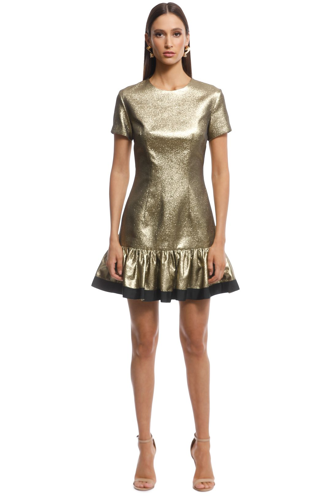 By Johnny - Yarn Frill Tee Mini - Gold - Front