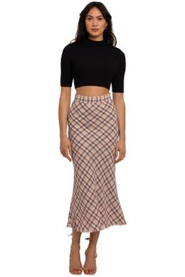 By Johnny Alex Tweed Bias Skirt plaid