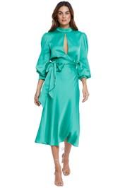 By Johnny Camellia Midi Dress Green Midi