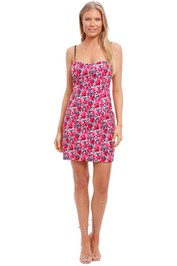 By Johnny Crimson Candy Floral Mini Shift