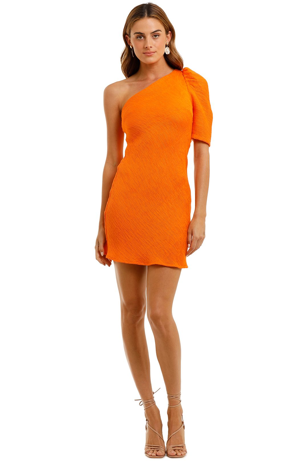 By Johnny Shell Shoulder Sleeve Mini Dress