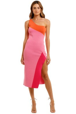 By Johnny - Summer Splice Asymmetric Knit Midi
