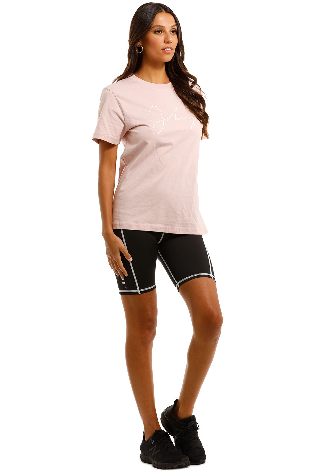 By Johnny Unisex Autograph Tee Pink Relaxed Fit