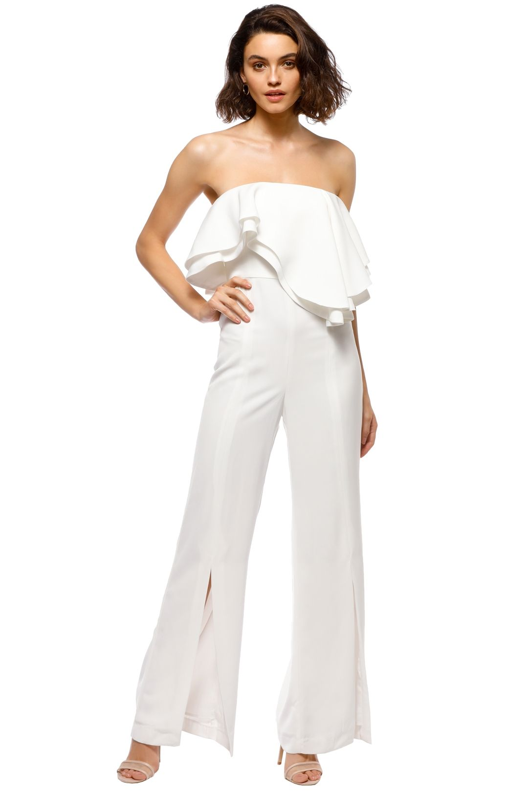 C_MEO - With You Jumpsuit - White - Front