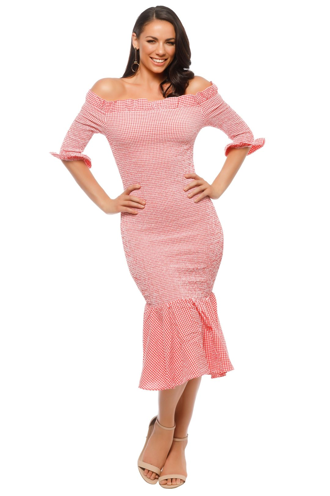 C/MEO Collective - Best Love Midi Dress - Pink - Front