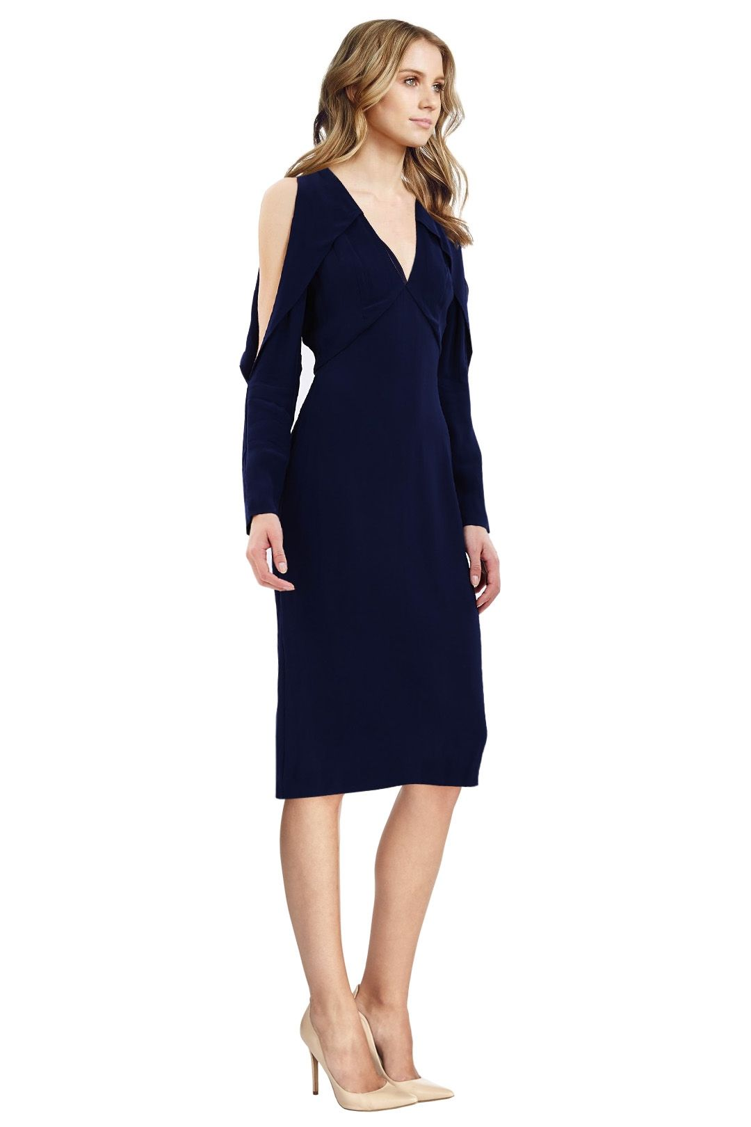 C/MEO Collective - Do It Now Dress - Blue - Side