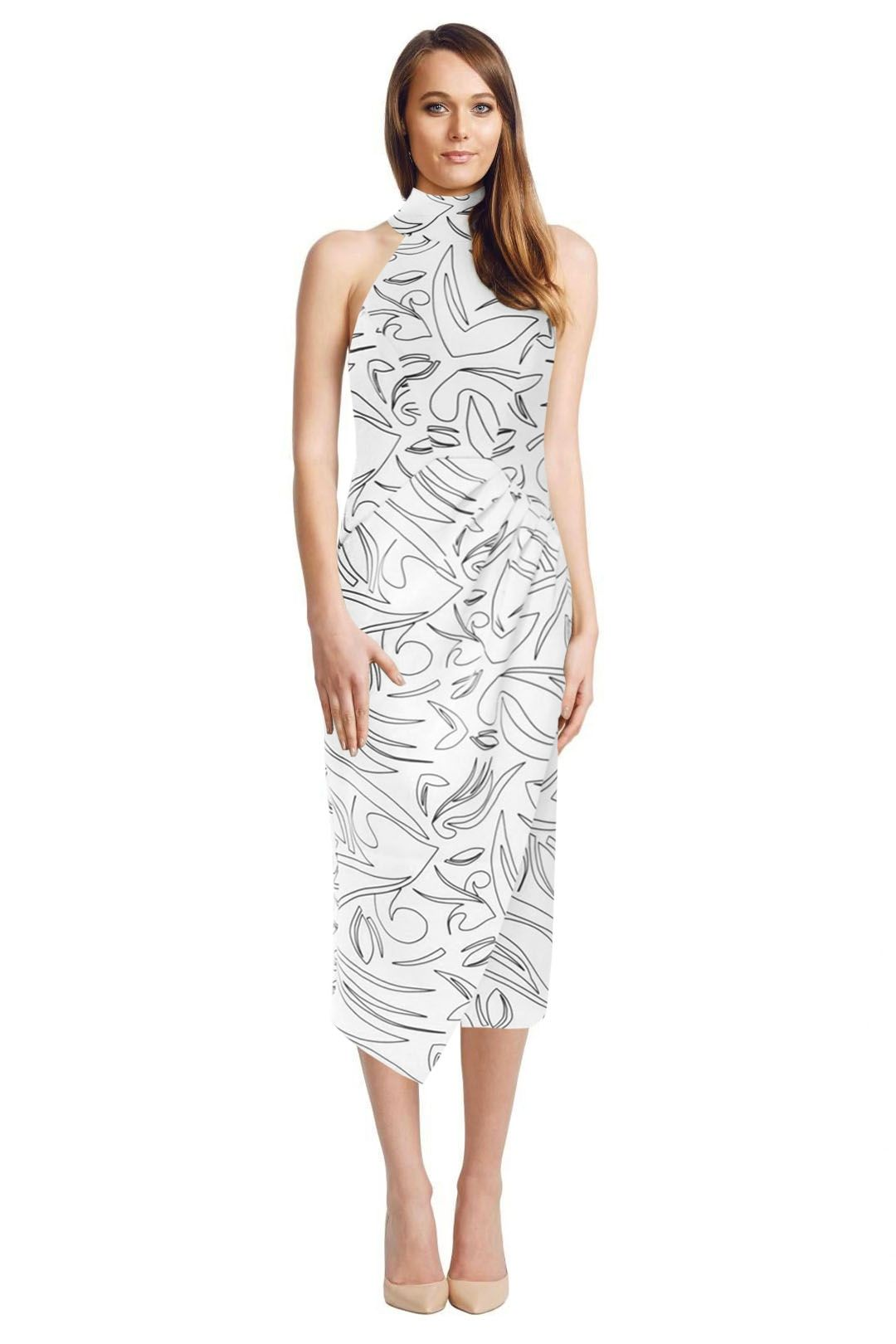 C/MEO Collective - Kiss Land Dress - White - Front