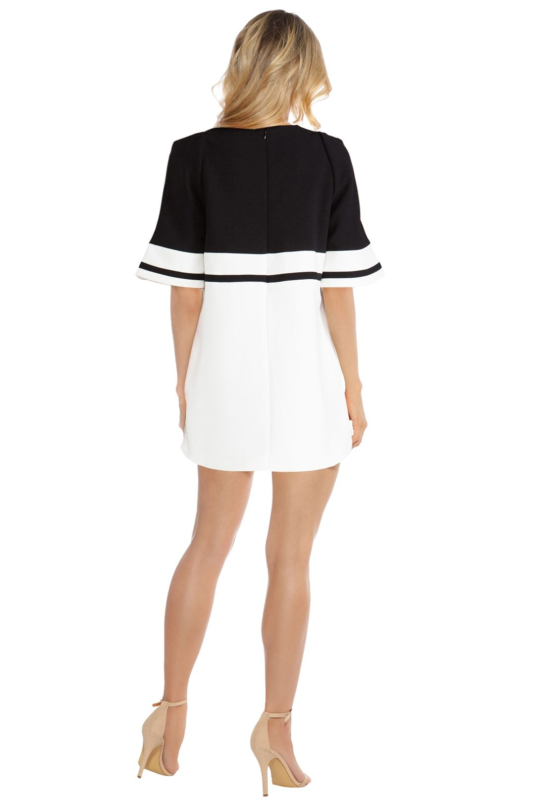 C/MEO Collective - We Are Young Dress - Black White - Back