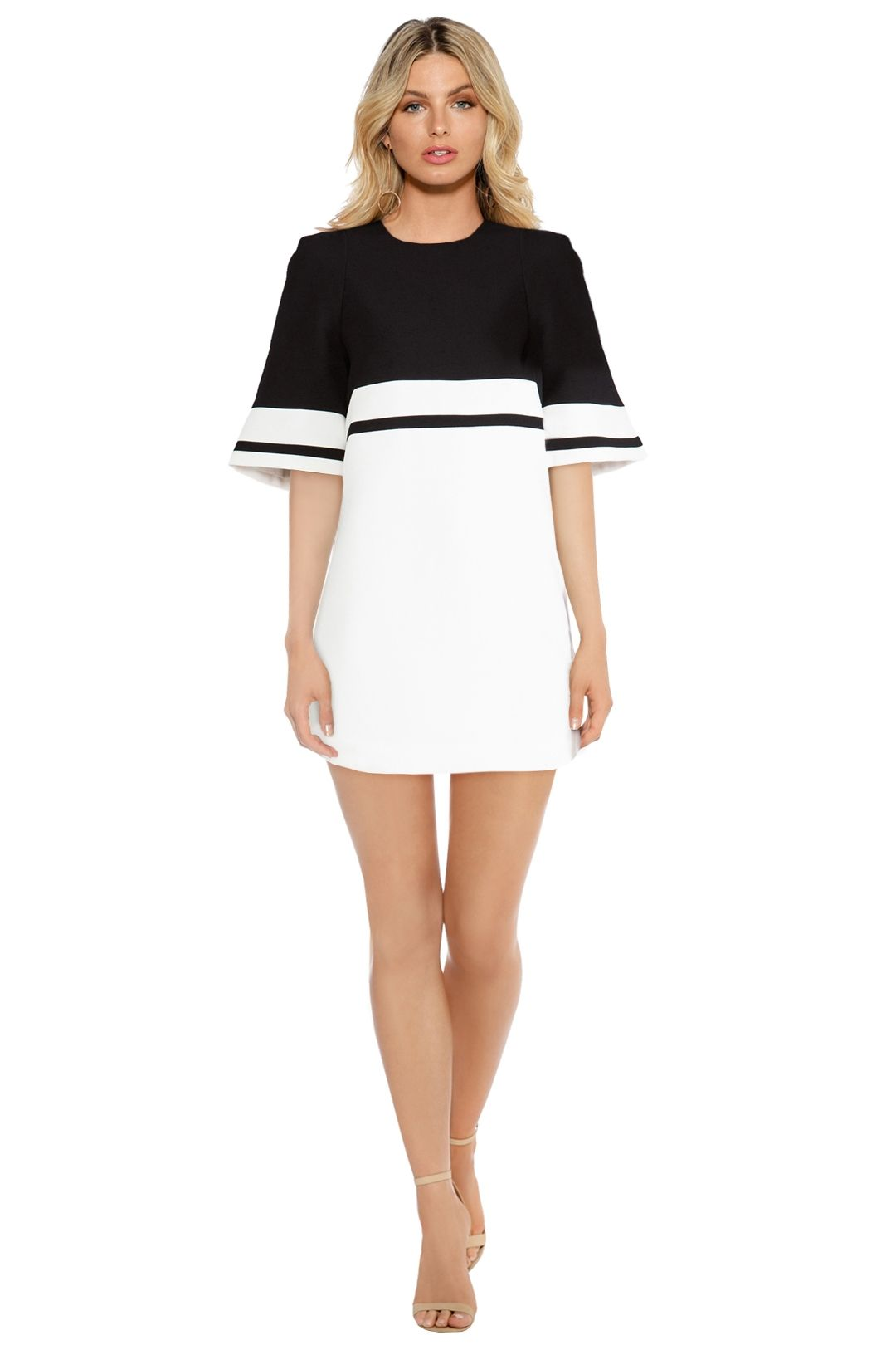 C/MEO Collective - We Are Young Dress - Black White - Front