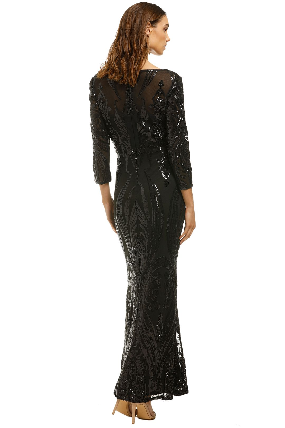 Cachet-Angelina Dress-Black-Back