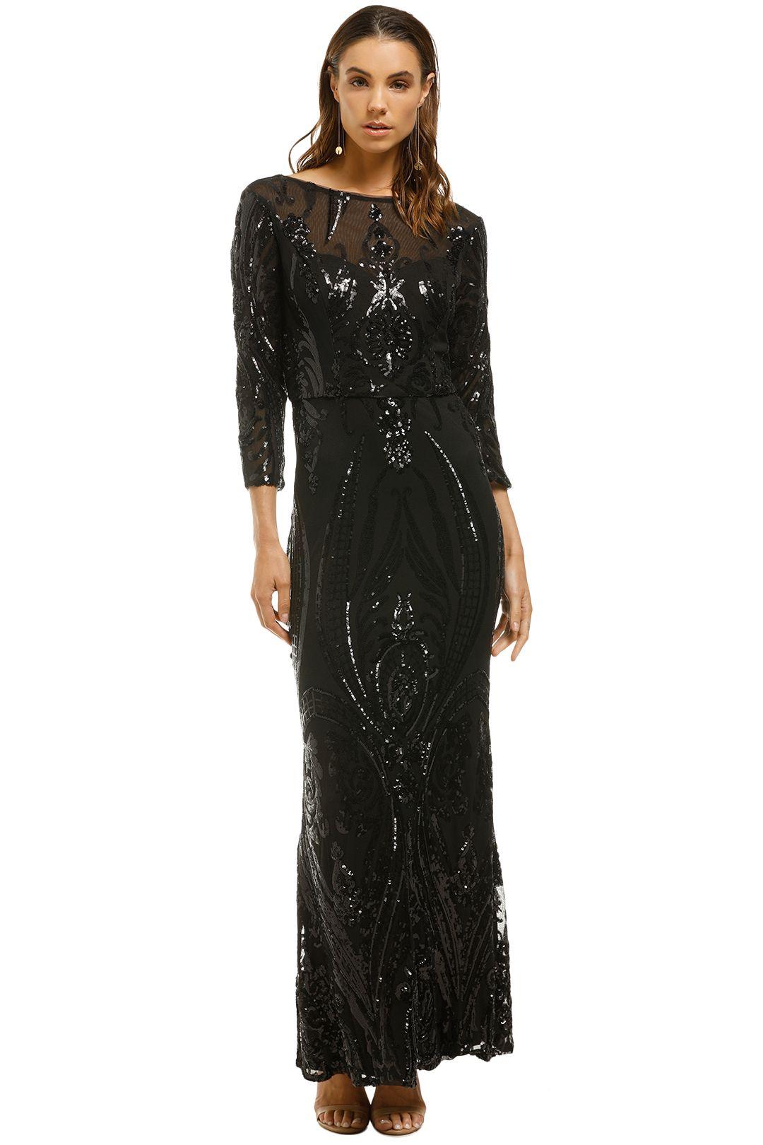 Cachet-Angelina Dress-Black-Front