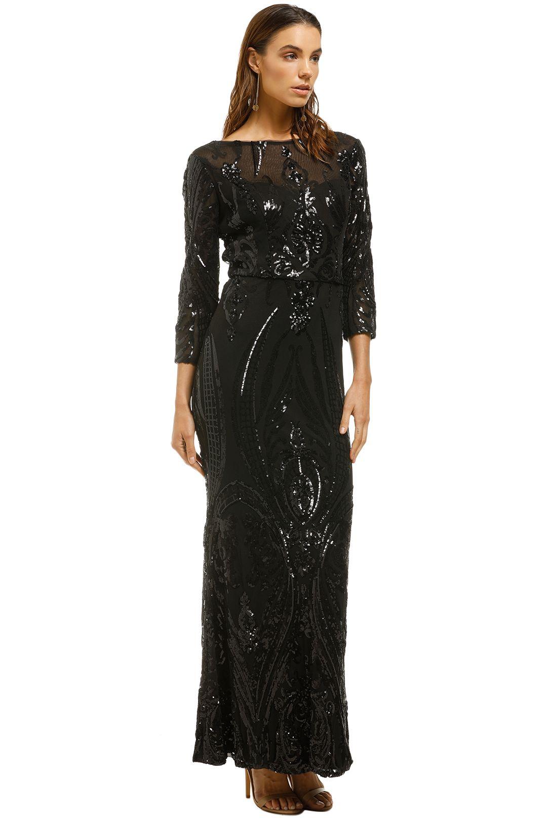 Cachet-Angelina Dress-Black-Side