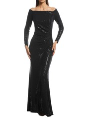 Cachet - Adele Gown - Black - Front
