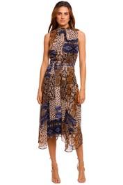 Calvin Klein Snake Print Midi Dress asymmetric
