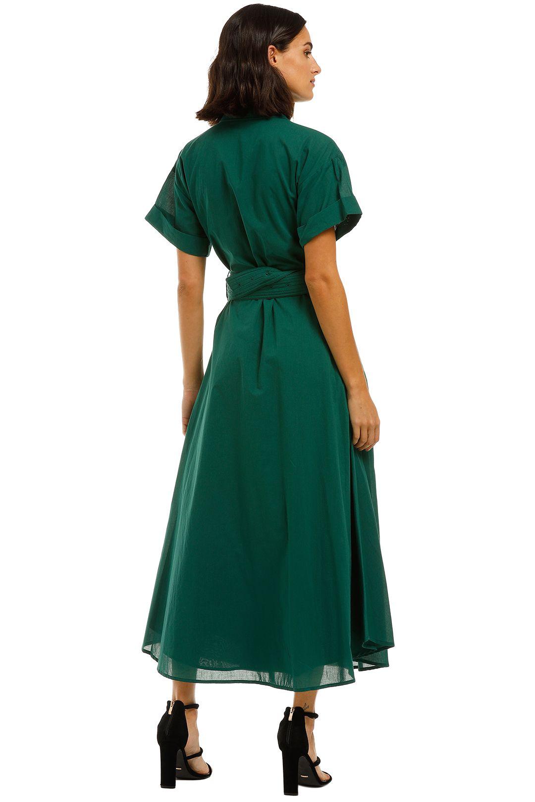 Camilla-and-Marc-Maya-Dress-Emerald-Green-Back