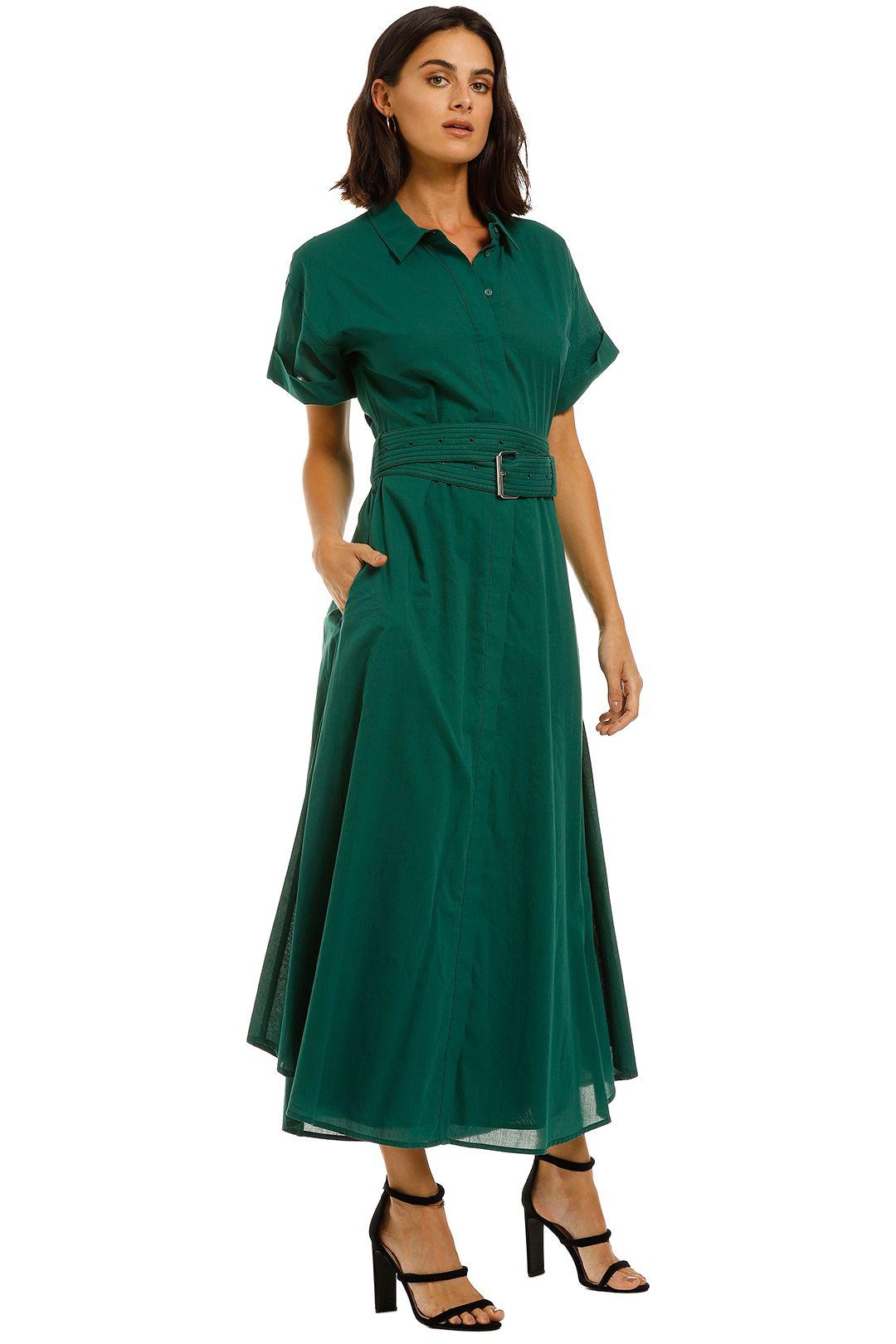 Camilla-and-Marc-Maya-Dress-Emerald-Green-Side