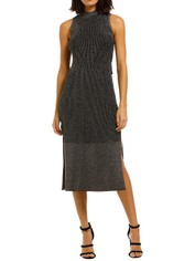 Camilla-and-Marc-Perry-Dress-Gunmetal-Front