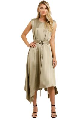Camilla-and-Marc-Teresa-Midi-Dress-Khaki-Front