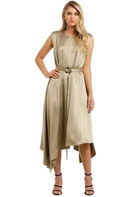 Camilla-and-Marc-Teresa-Midi-Dress-Khaki-Front