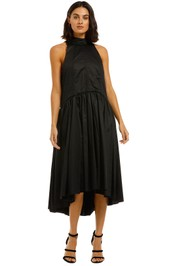 Camilla-and-Marc-Willow-Midi-Dress-Black-Front