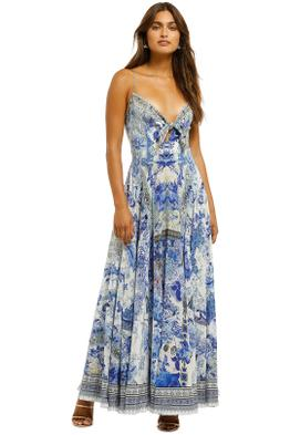 Camilla-Long-Dress-with-Tie-Front-Painted-Provincial-Front