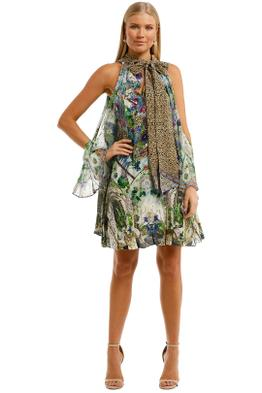 Camilla-Neck-Tie-Short-Dress-Moon-Garden-Front