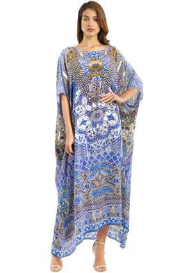 Camilla - Bohemian Princess Kaftan - Blue - Front
