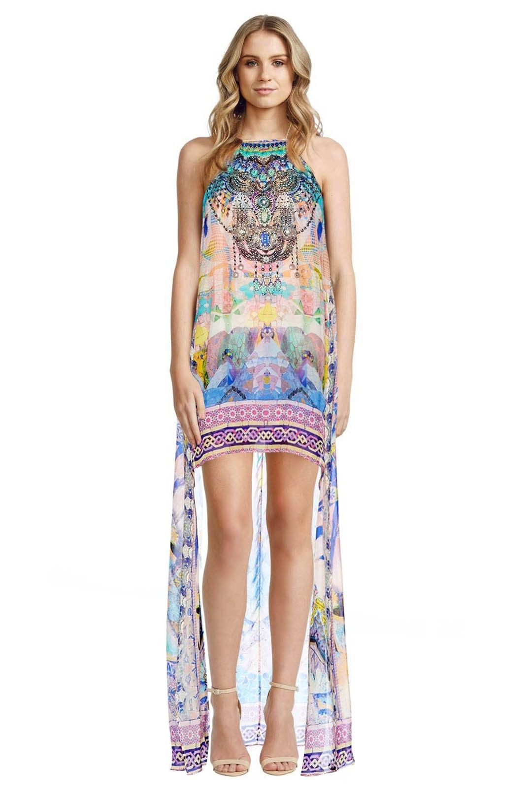 Camilla - Gaudi Tribute Short Sheer Overlay Dress - Prints - Front