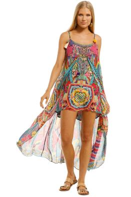Camilla - Ms Mochilla Mini Dress with Long Overlay - Prints - Front