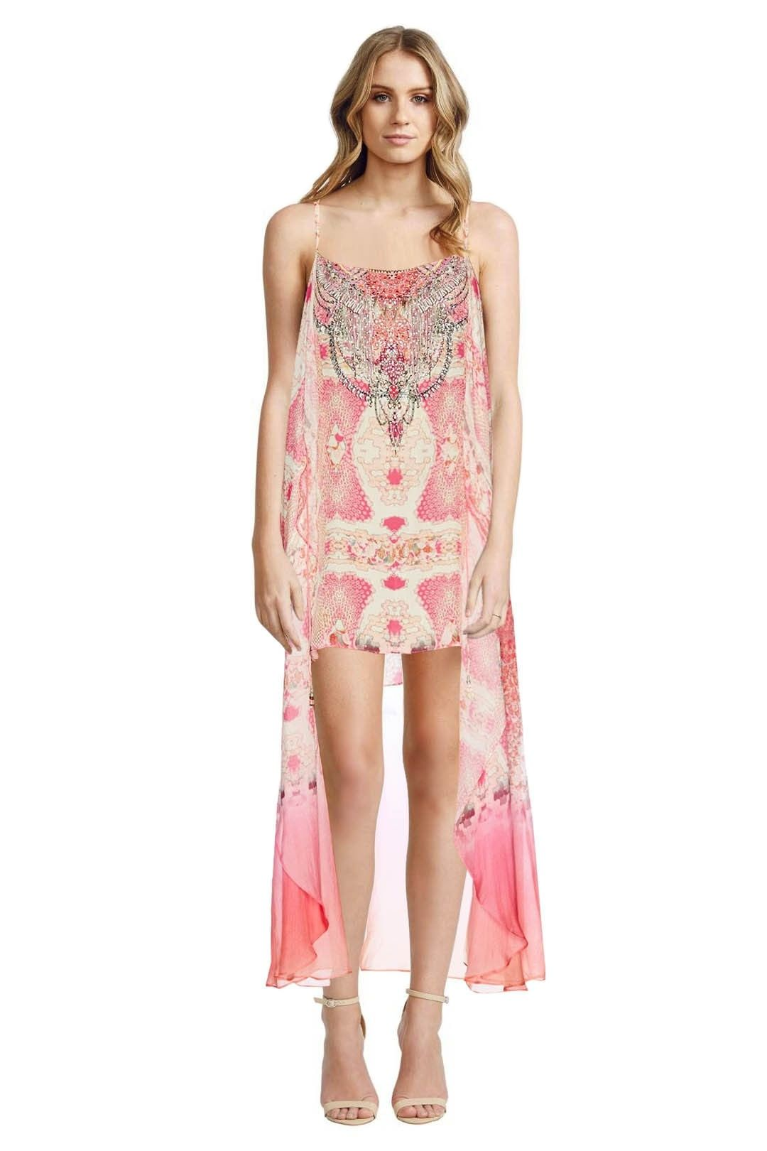 Camilla - Sea Serpent Mini Dress with Long Overlay - Prints - Front