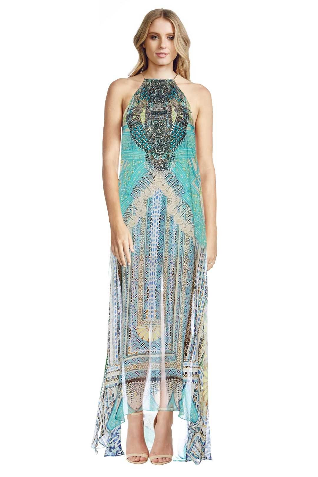 Camilla - Topkapi Thread Sheer Overlay Dress - Prints - Front
