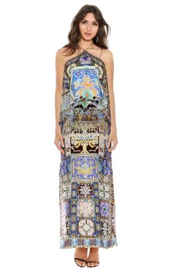 Camilla - Weave of Humanity Halterneck Layered Dress - Prints - Front
