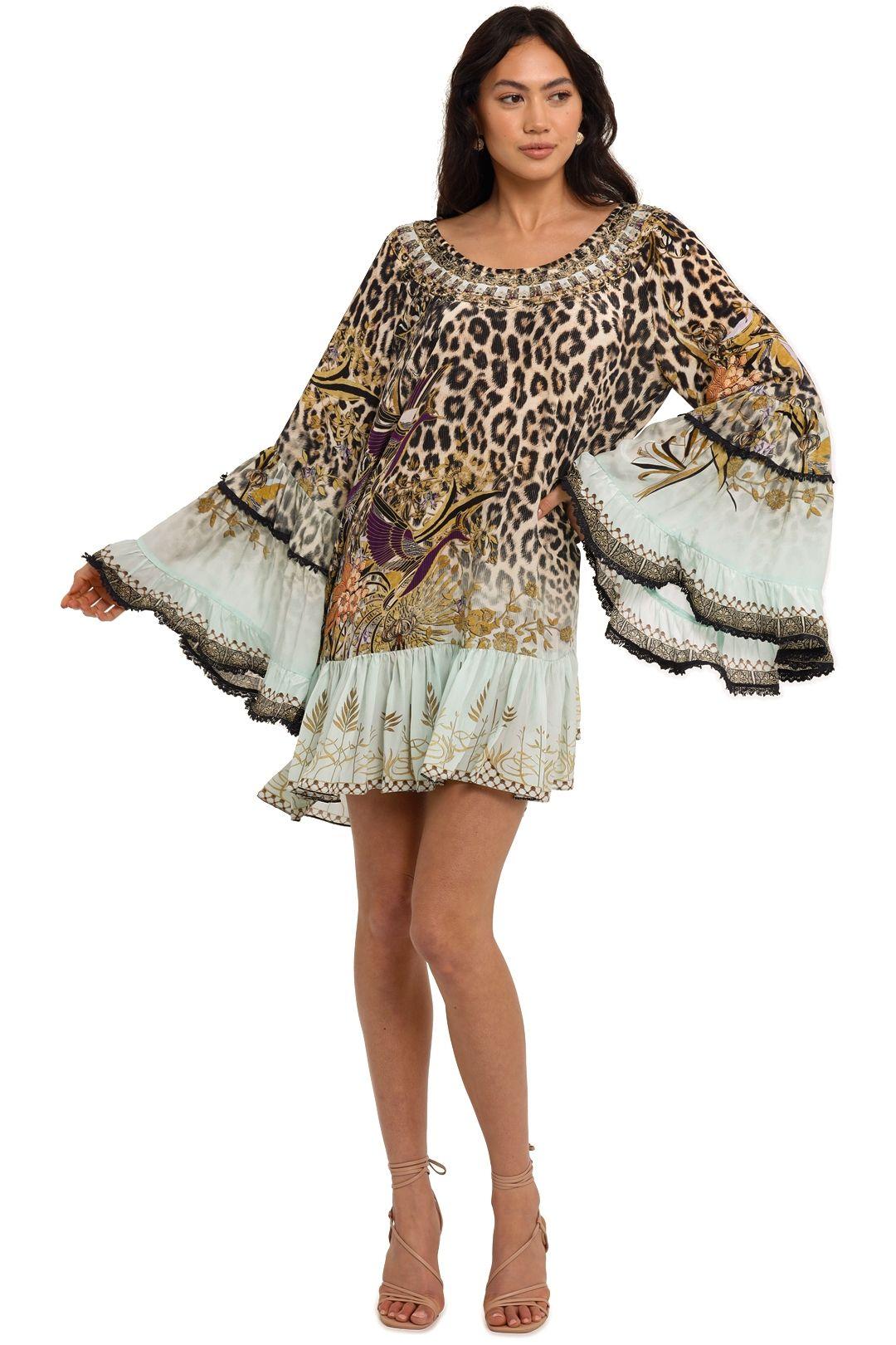 Camilla A Line Frill Dress Nomadic Nymph