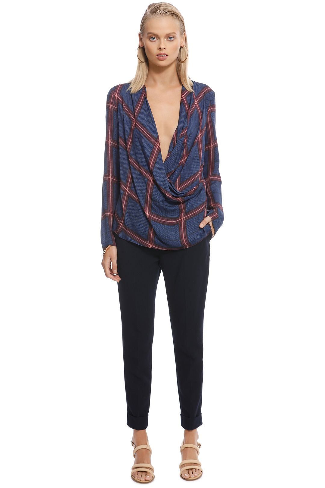 Camilla and Marc - Alaine Top - Navy - Front