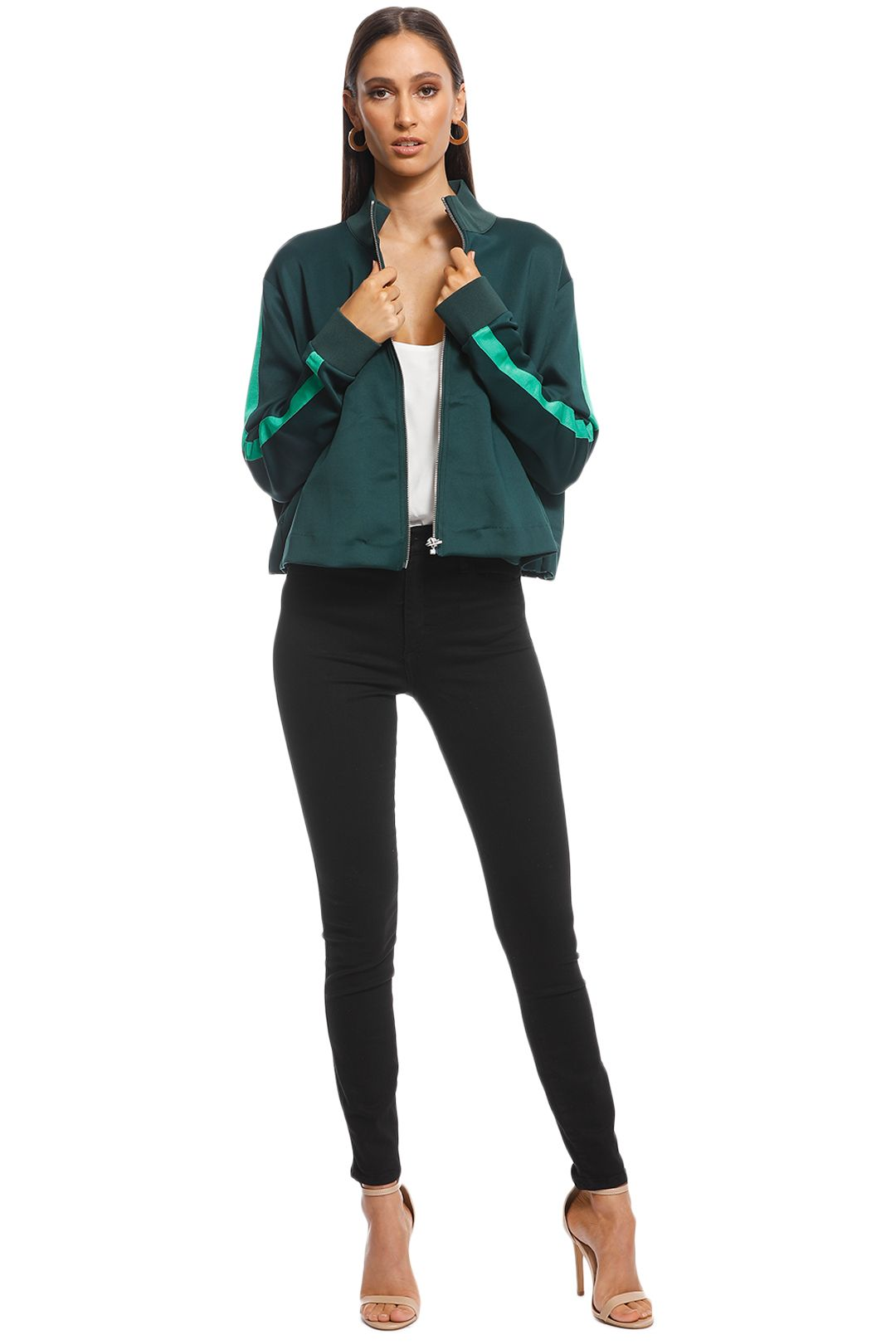 Camilla and Marc - Arie Track Jacket - Green - Front