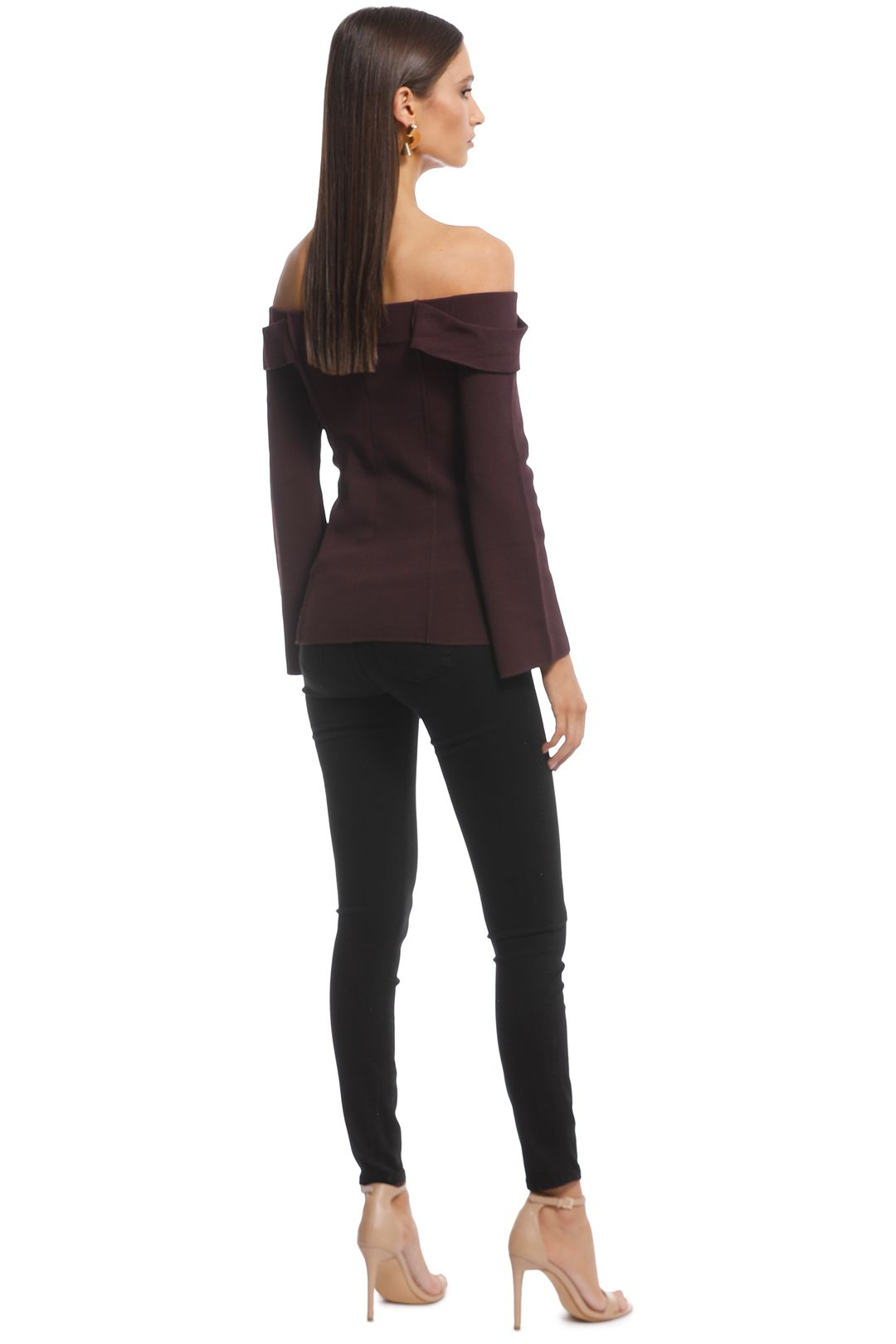 Camilla and Marc - Carole Knit Top - Burgundy - Back