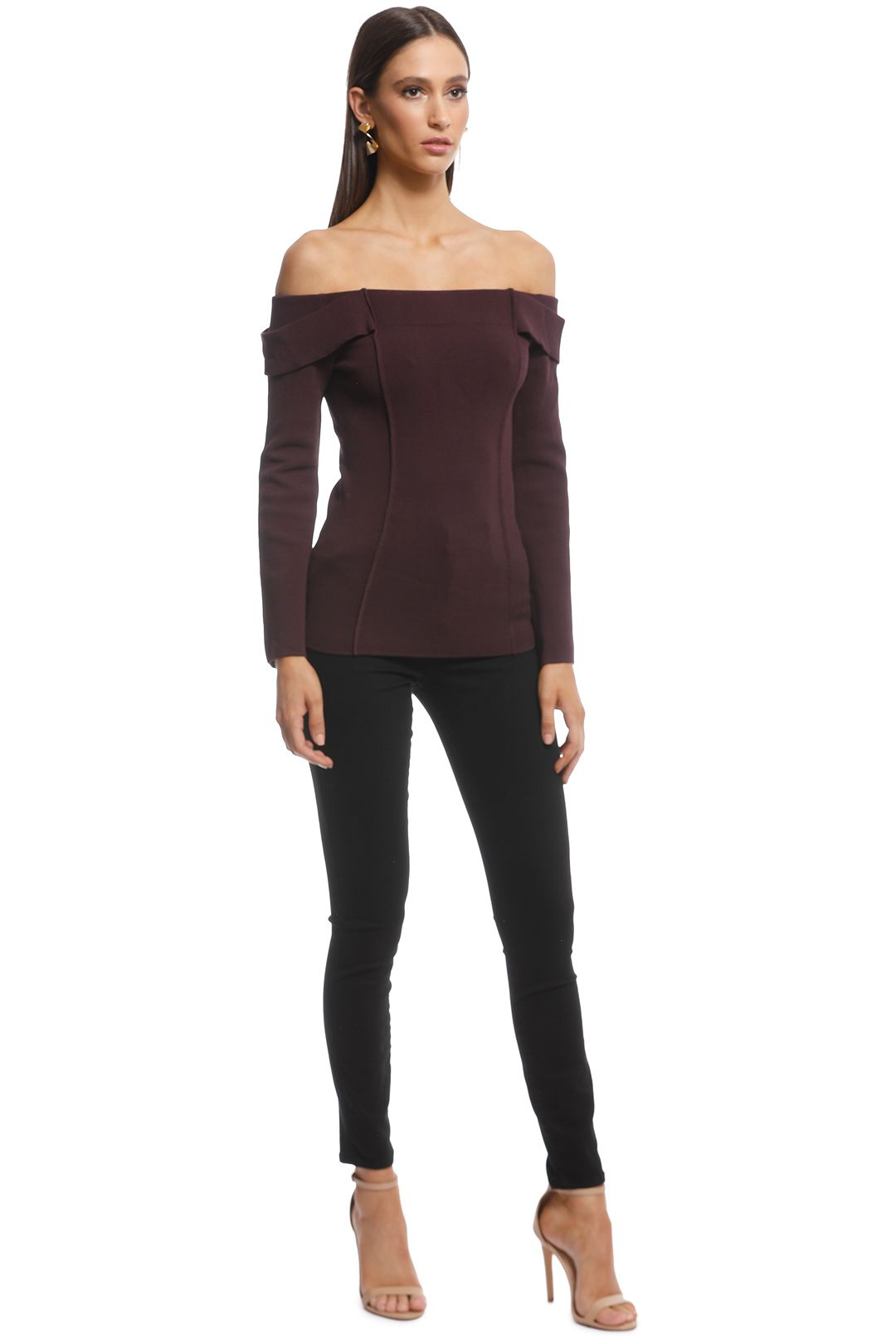Camilla and Marc - Carole Knit Top - Burgundy - Side