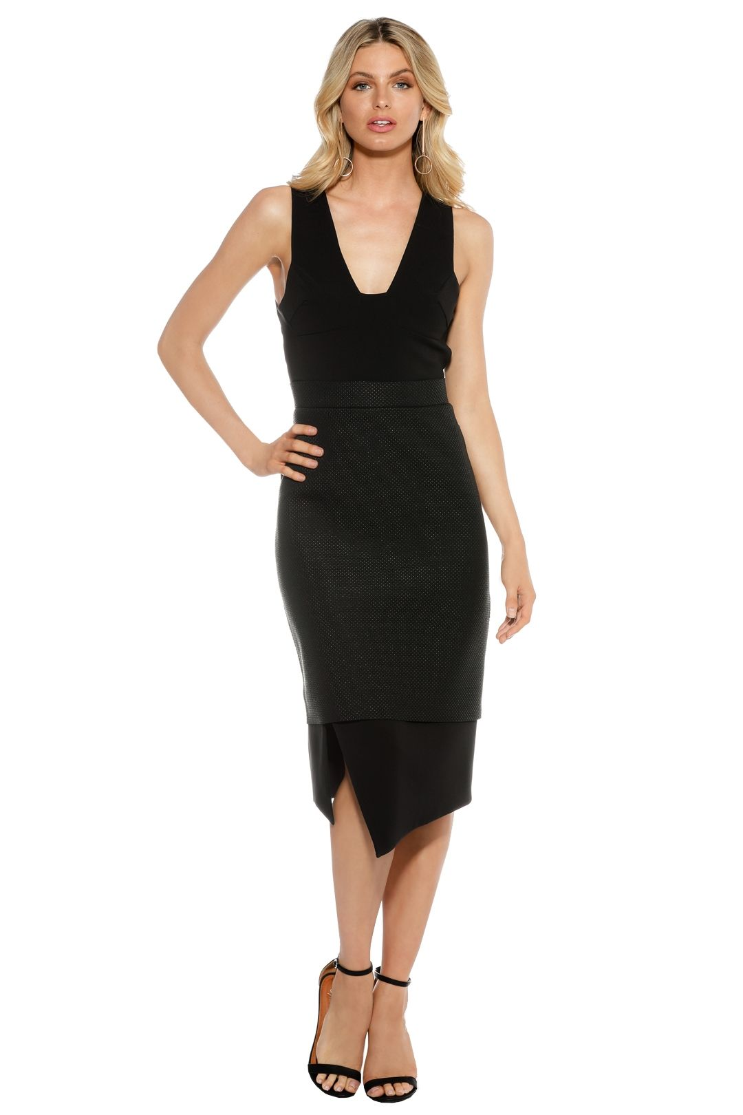 Camilla and Marc - Continuation Dress - Black - Front