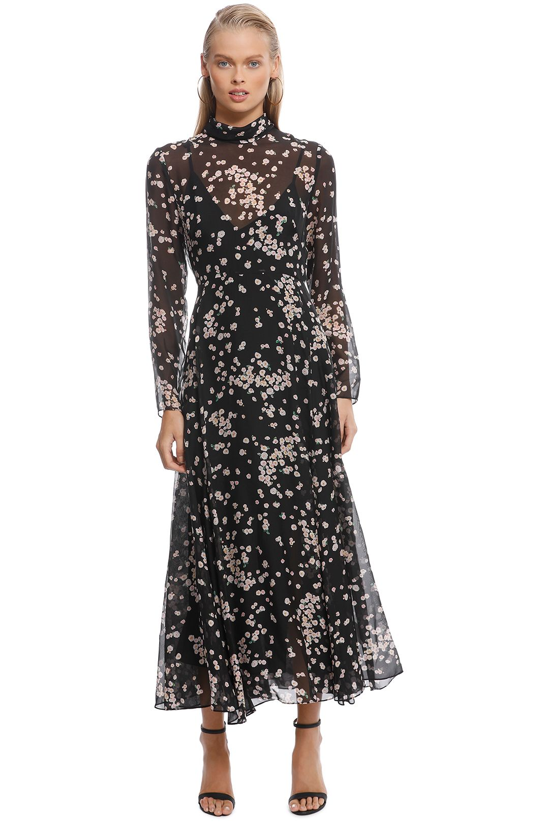 Camilla and Marc - Gardin Dress - Black Floral - Front