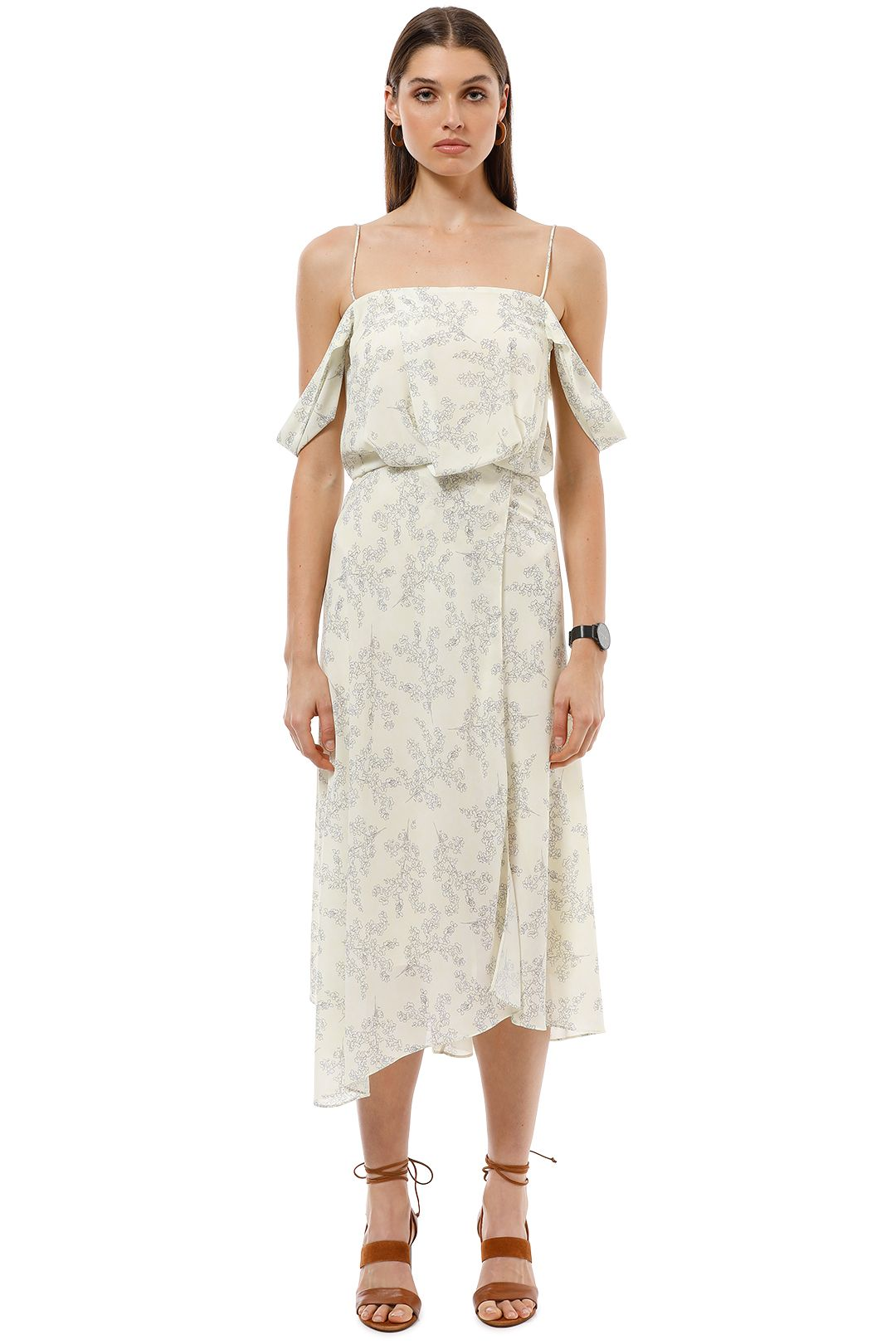 Camilla and Marc - Lucia Midi Dress - Cream - Front