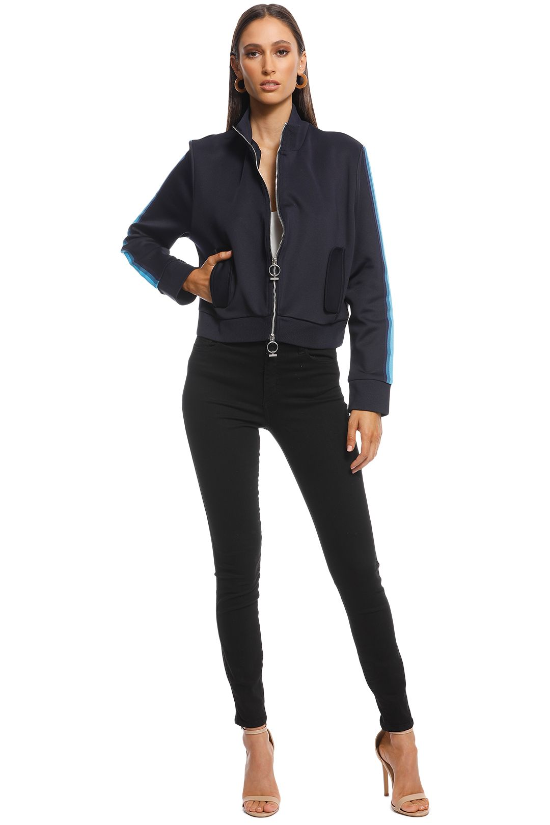 Camilla and Marc - Ludovic Zip Jacket - Navy - Front