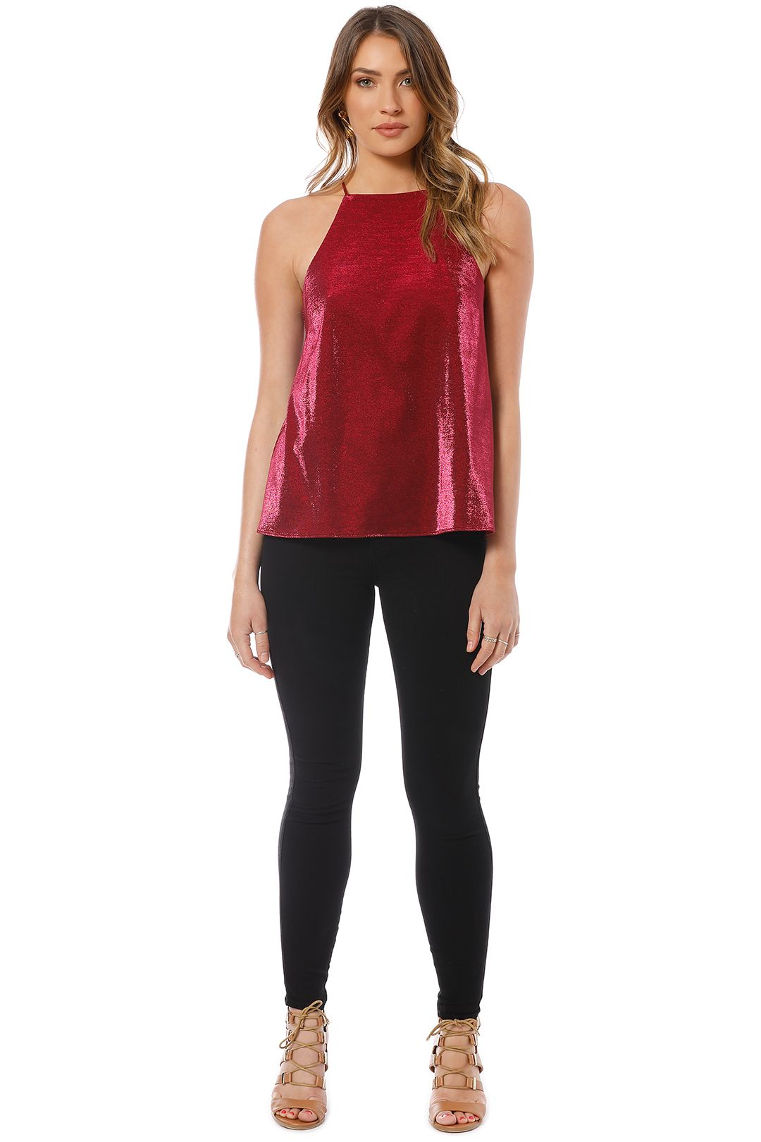 Camilla and Marc - Opasidy Top - Red - Front