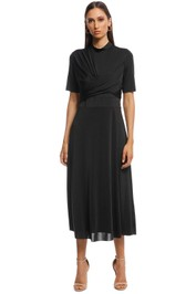 Camilla and Marc - Sequoia Slinky Dress - Black - Front